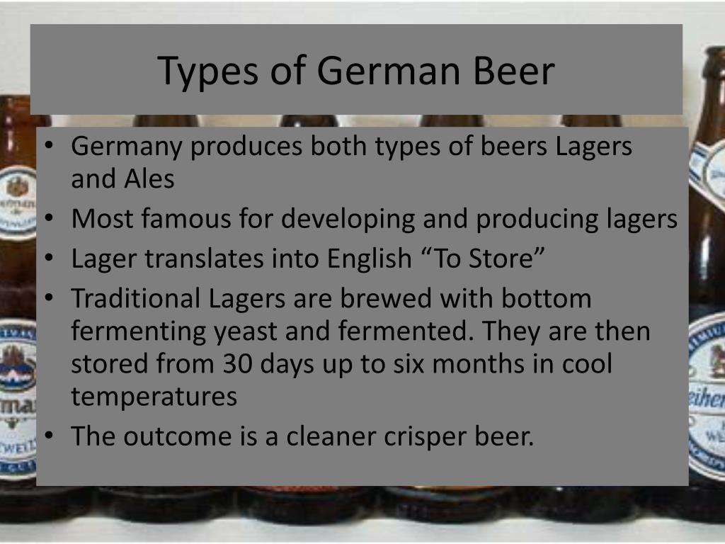 Types of German Beer