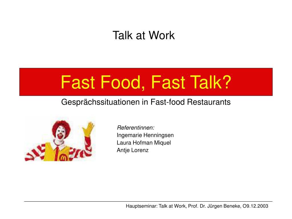 fast food fast talk gespr chssituationen in fast food restaurants l.