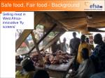 safe food fair food background11