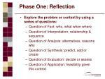 phase one reflection16