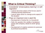 what is critical thinking7