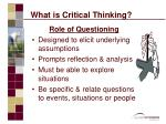 what is critical thinking9