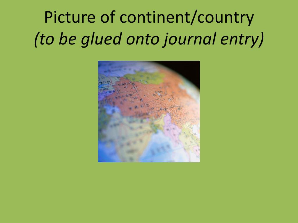 Picture of continent/country