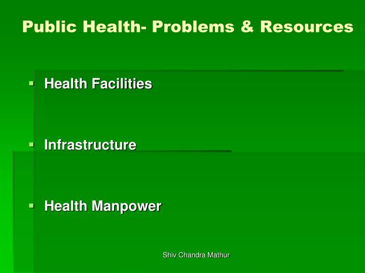 Public Health- Problems & Resources
