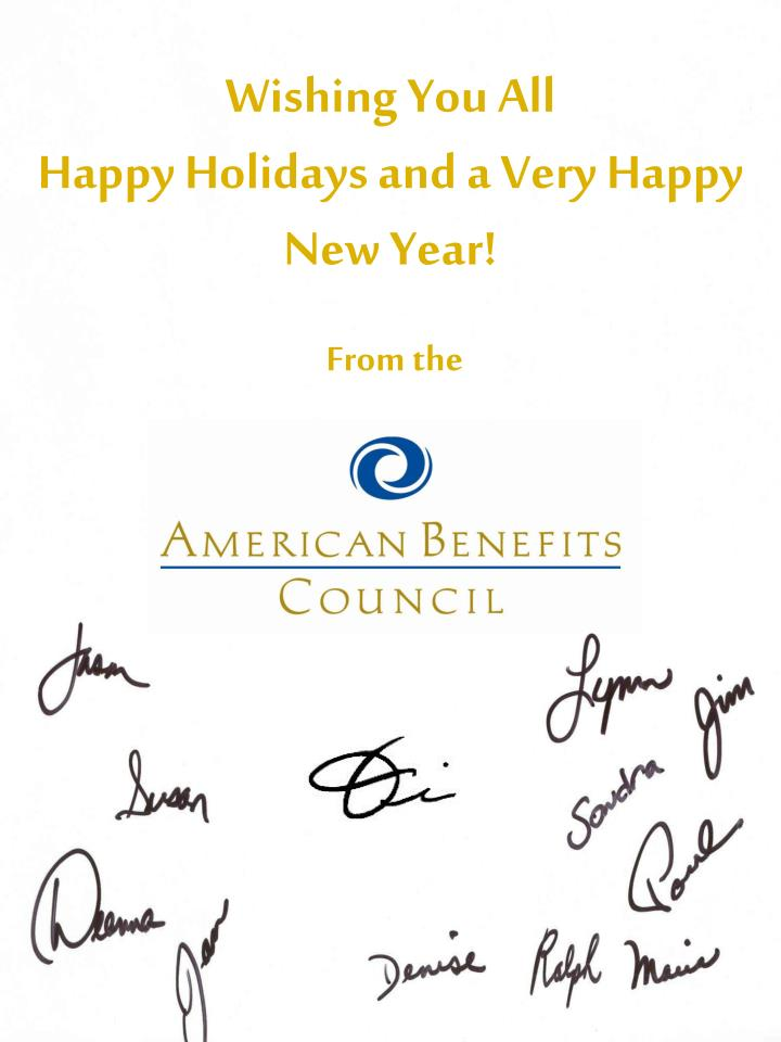 Wishing you all happy holidays and a very happy new year