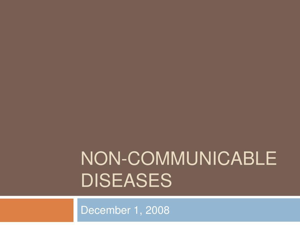 non communicable diseases l.