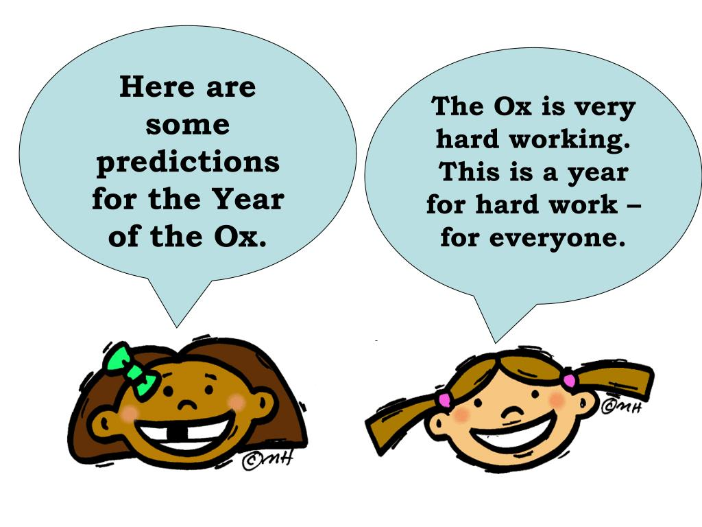 Here are some predictions for the Year of the Ox.