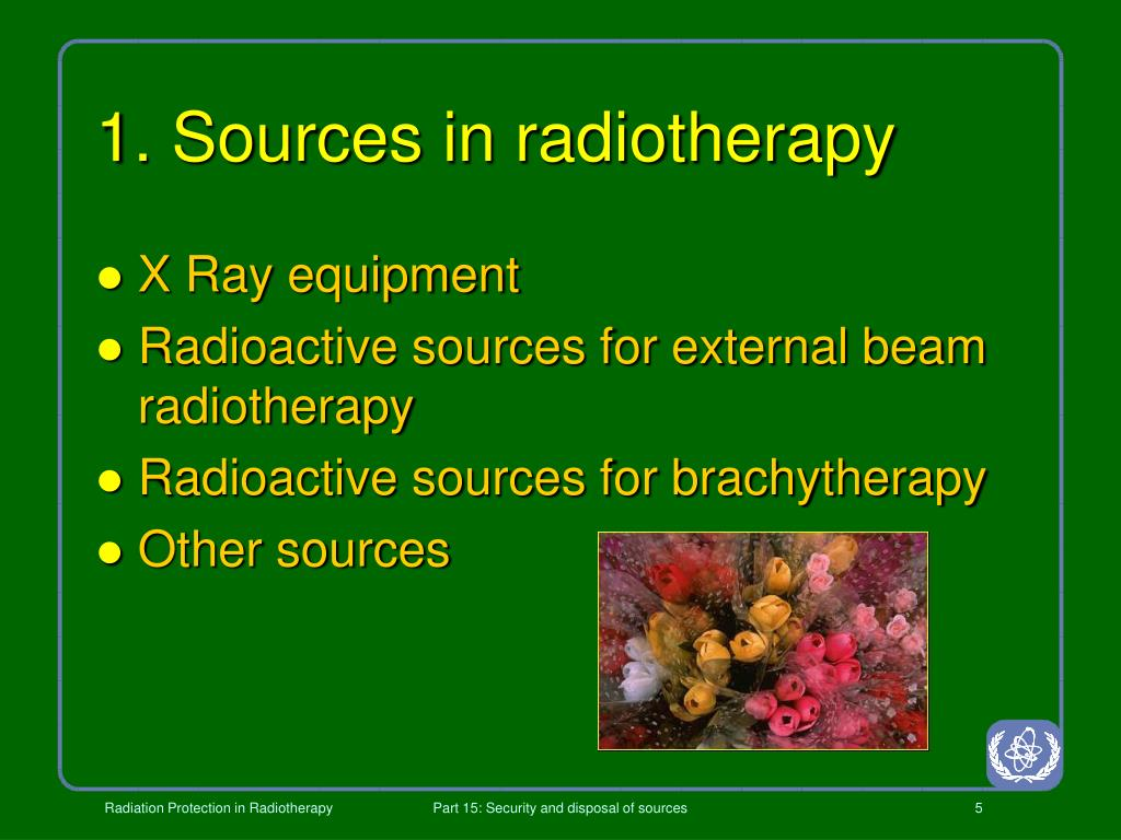 1. Sources in radiotherapy