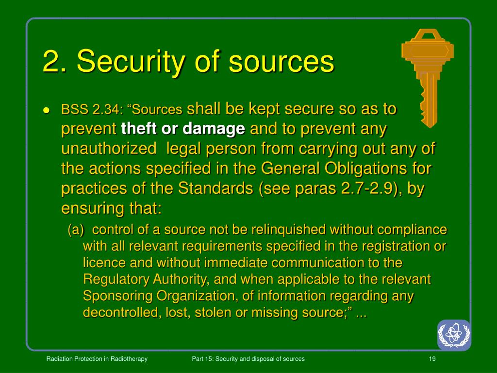 2. Security of sources