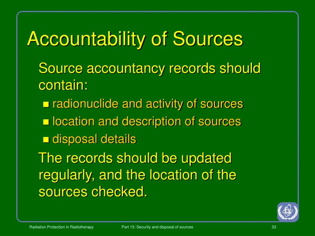 Accountability of Sources