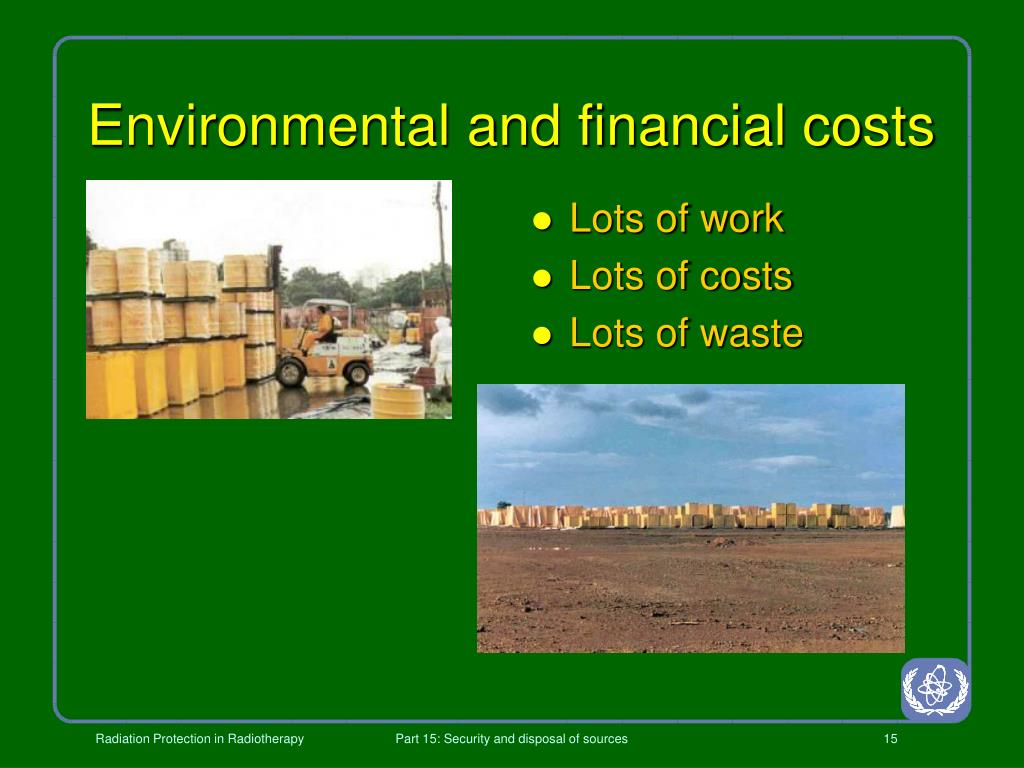 Environmental and financial costs
