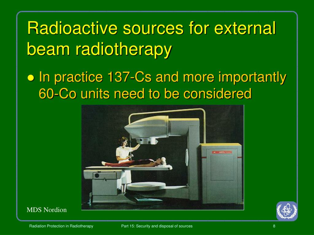 Radioactive sources for external beam radiotherapy