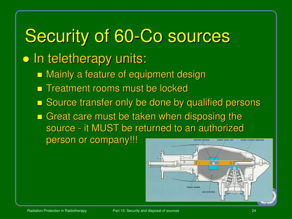 Security of 60-Co sources