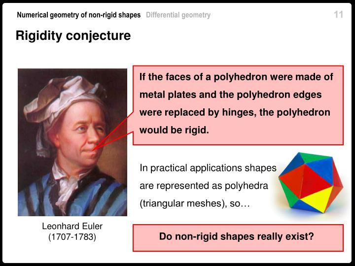 If the faces of a polyhedron were made of metal plates and the polyhedron edges were replaced by hinges, the polyhedron would be rigid.