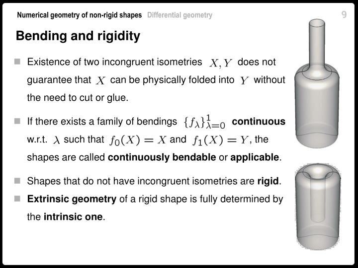 Bending and rigidity
