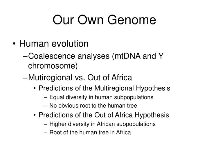 Our Own Genome