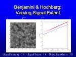benjamini hochberg varying signal extent