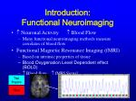 introduction functional neuroimaging