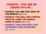 church you are in isaiah 59 60