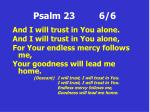 psalm 23 6 6