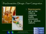 psychoactive drugs four categories