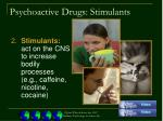 psychoactive drugs stimulants