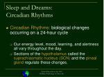 sleep and dreams circadian rhythms