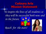 culinary arts mission statement