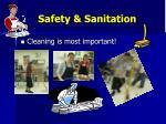 safety sanitation