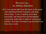 the crawl up by anthony bourdain