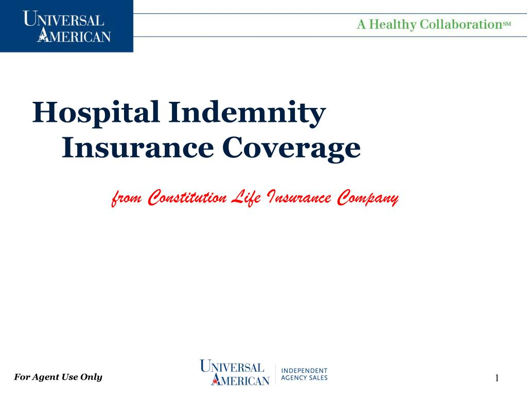 hospital indemnity insurance coverage l.