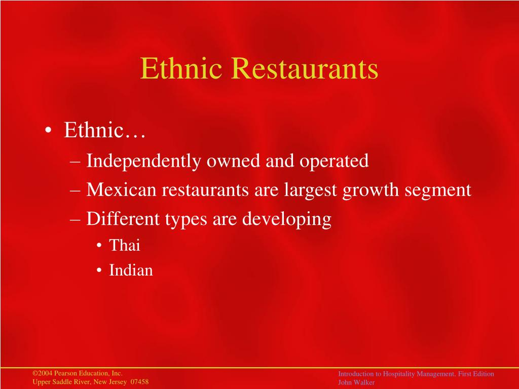 Ethnic Restaurants