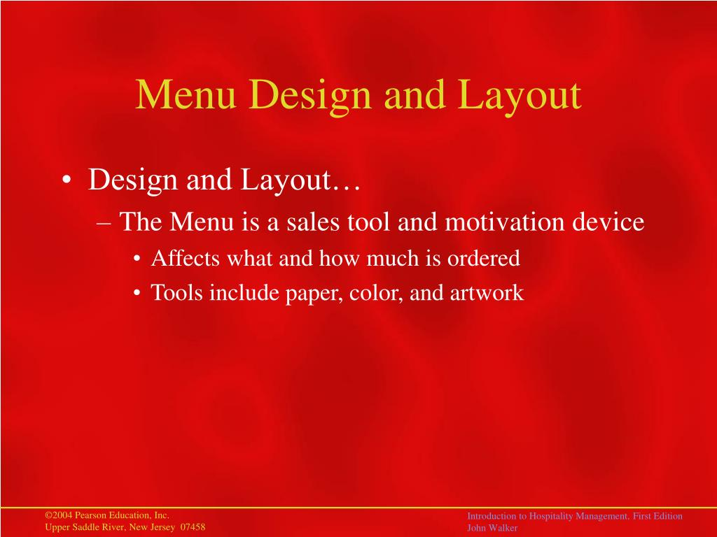 Menu Design and Layout