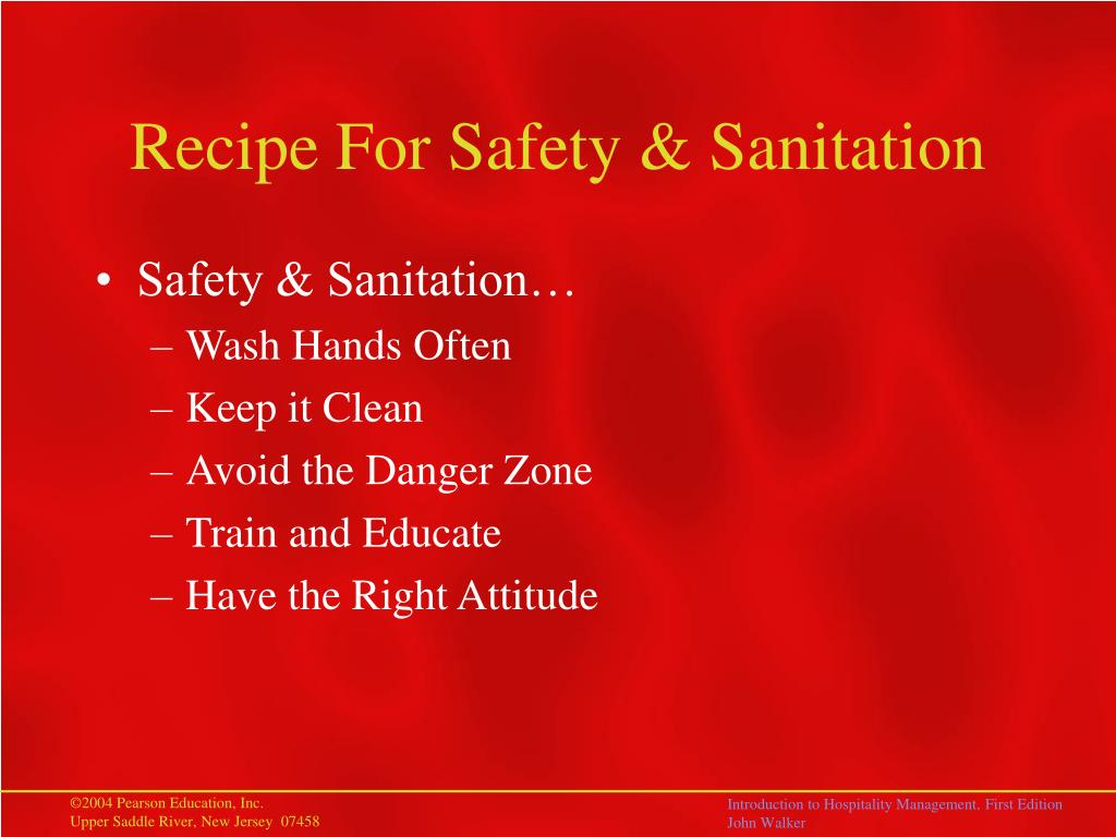 Recipe For Safety & Sanitation