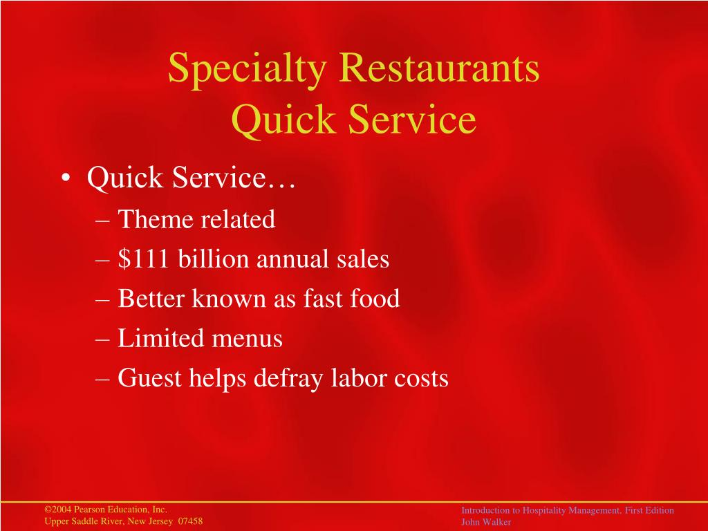 Specialty Restaurants