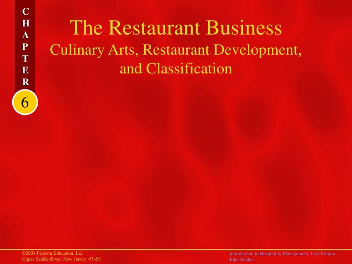 The restaurant business culinary arts restaurant development and classification