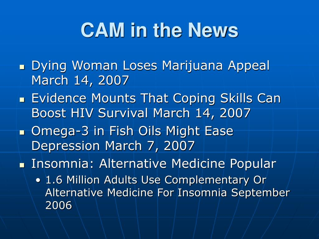 CAM in the News