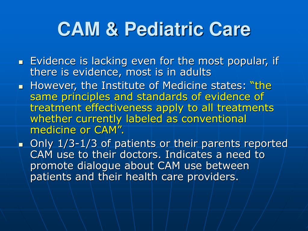 CAM & Pediatric Care