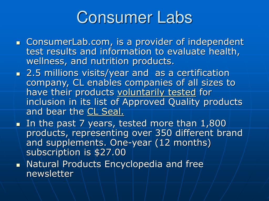 Consumer Labs