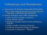 fellowships and residencies