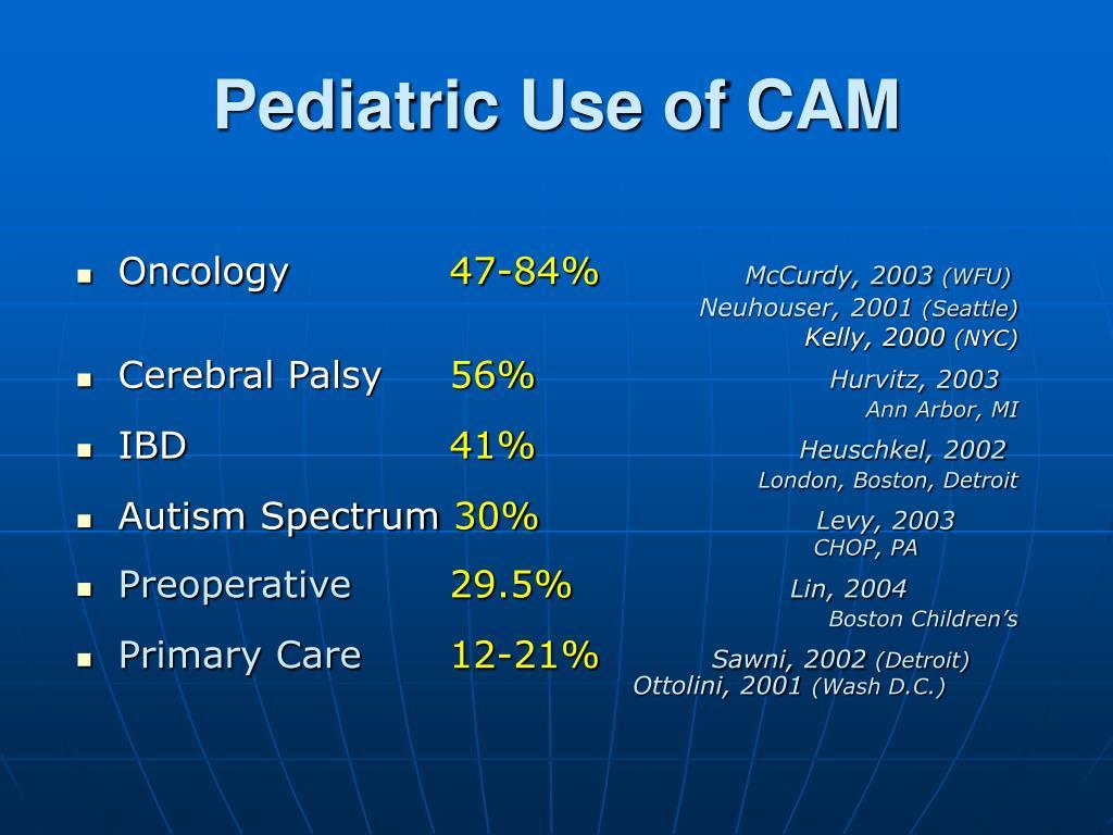 Pediatric Use of CAM