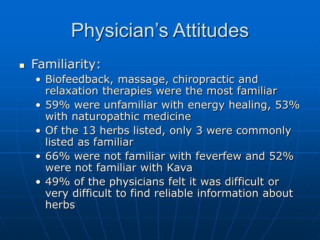Physician's Attitudes