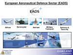european aeronautical defence sector eads