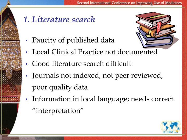 1 literature search