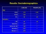 results sociodemographics19