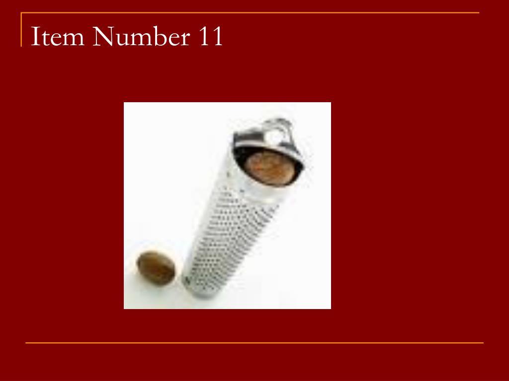 Item Number 11