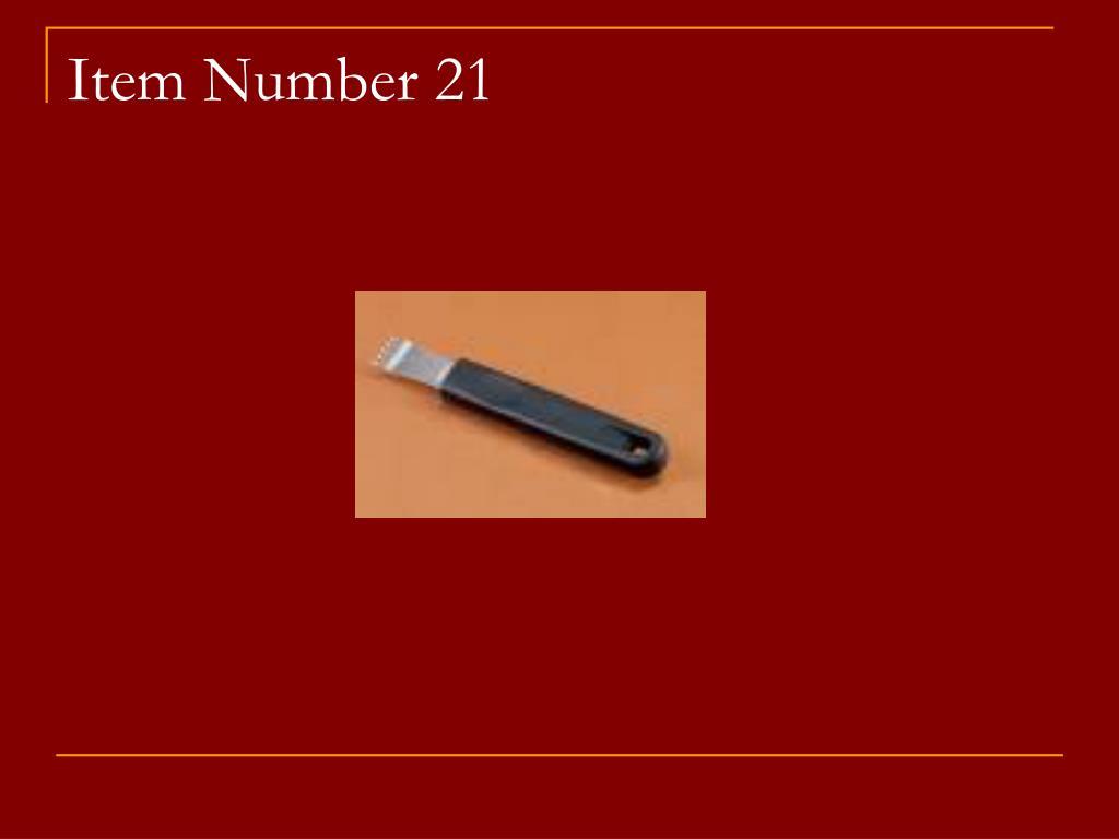 Item Number 21