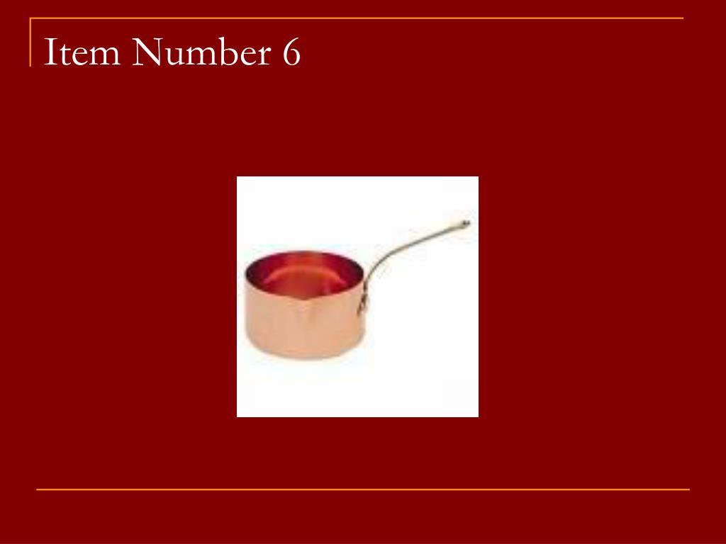 Item Number 6