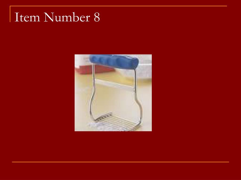 Item Number 8
