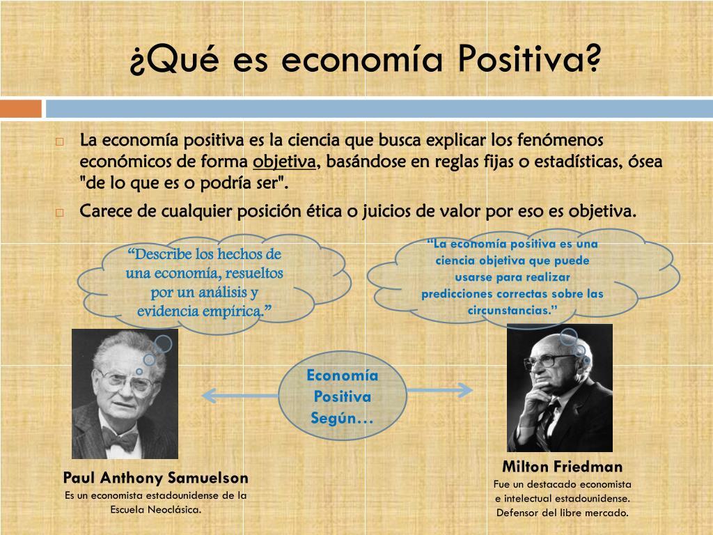 ¿Qué es economía Positiva?